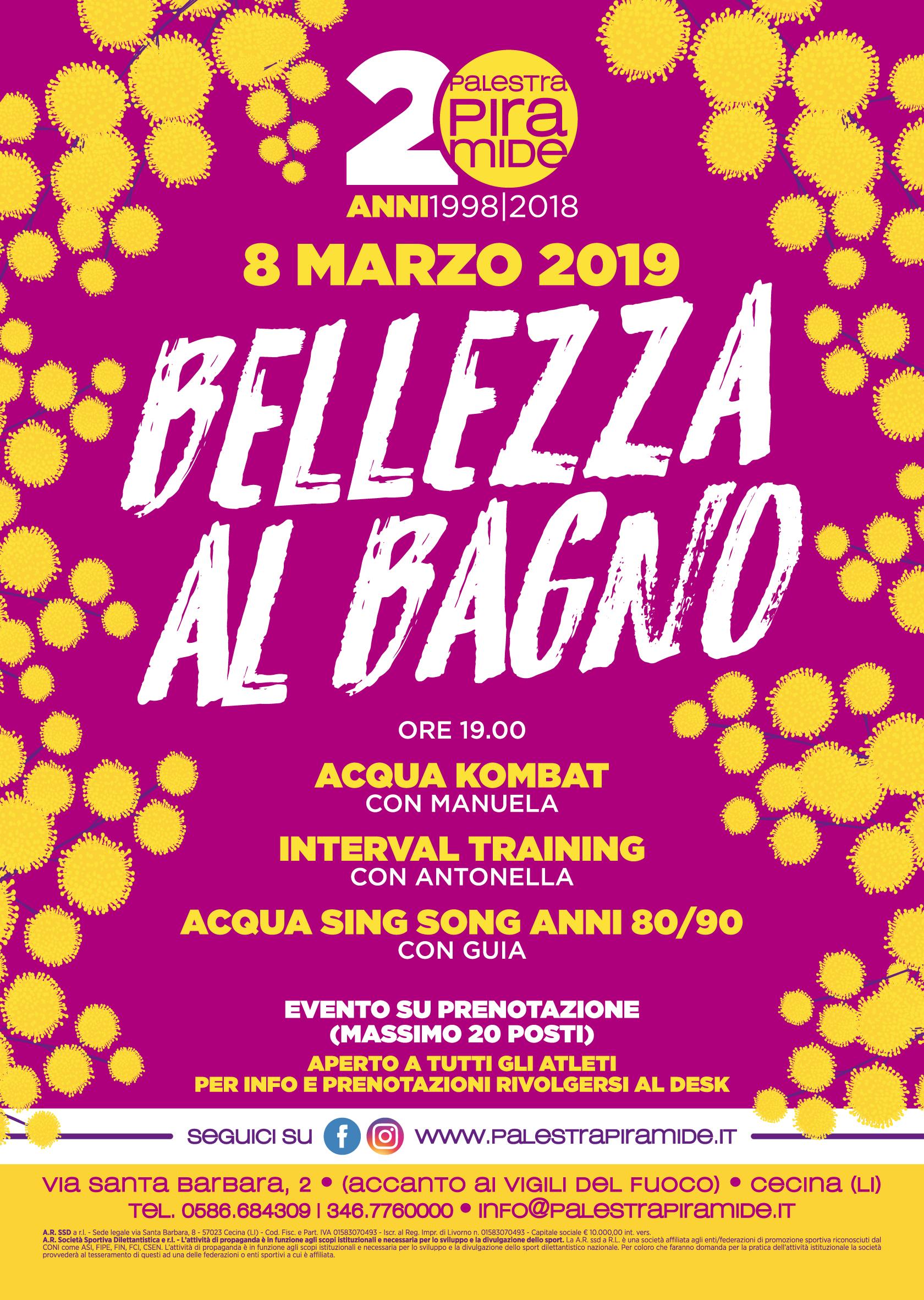 JPG Bellezza al Bagno 8 Marzo 2019 Palestra Piramide